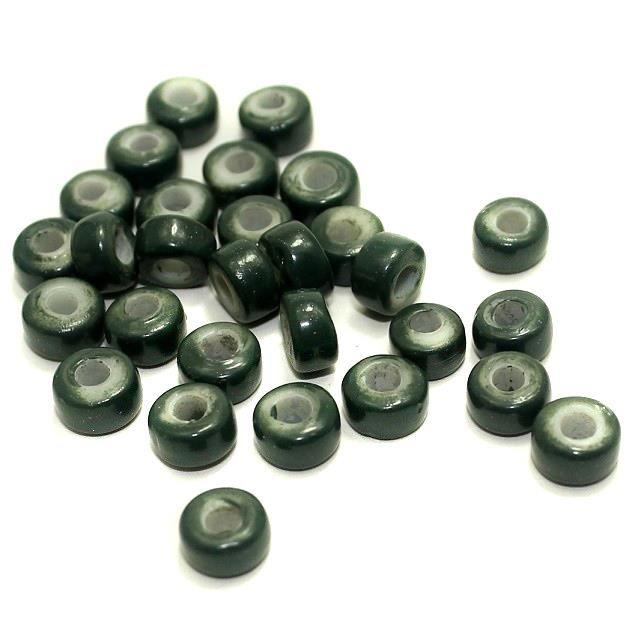 340+ Tyre Beads Black 8x4mm