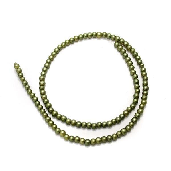 5 Strings Disco Round Beads Mehandi 4mm