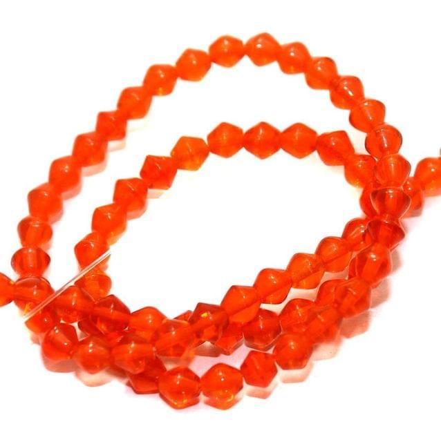 5 strings Glass RONDELLE Beads Orange 5MM