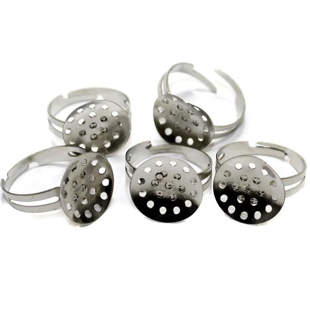 20 Finger Ring Base Silver 20mm