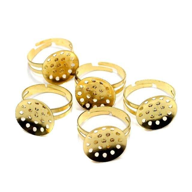 20 Finger Ring Base Golden 20mm