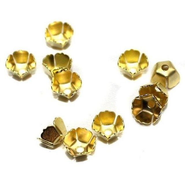 250 Metal Bead Caps Golden 6x4mm