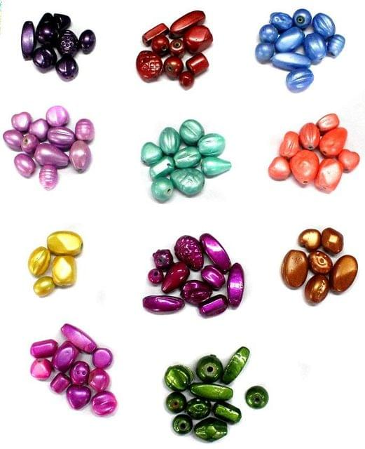 90+ Disco Beads Basic Assorted 10-20x8-12mm ( 11 Color )