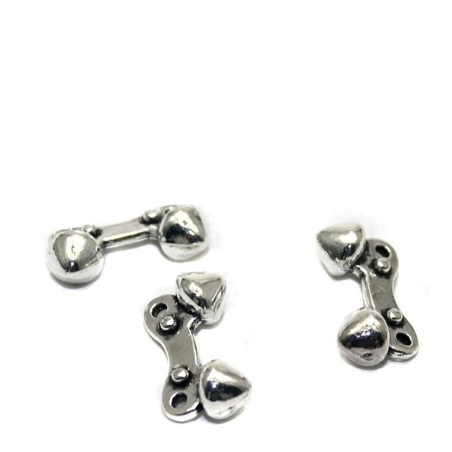 25 German Silver Beads 18x9mm