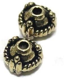 20 German Silver Round Beads 6mm