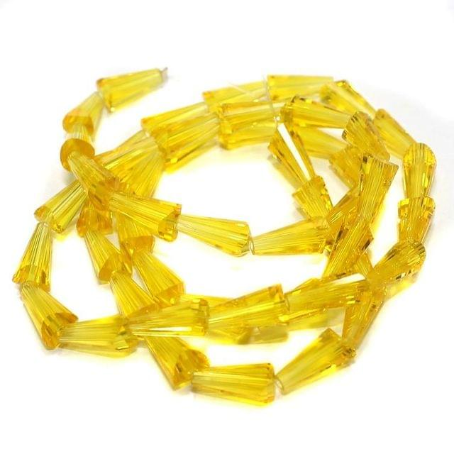 50+ Crystal Cone Beads Trans Yellow 12x6mm