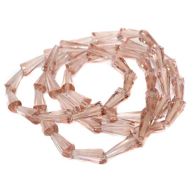 50+ Crystal Cone Beads Peach 12x6mm