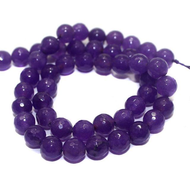 45+ Semiprecious Round Beads Purple 8mm