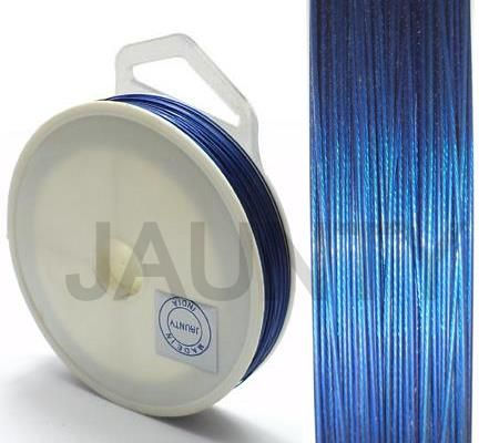 100 MtrJewellery Making Metal Beading Wire Blue 0.45 mm