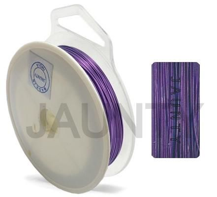 100 MtrJewellery Making Metal Beading Wire Violet 0.45 mm