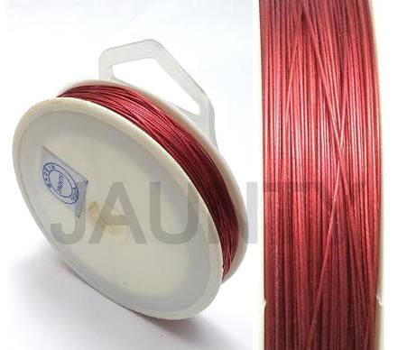 100 MtrJewellery Making Metal Beading Wire Red 0.45 mm