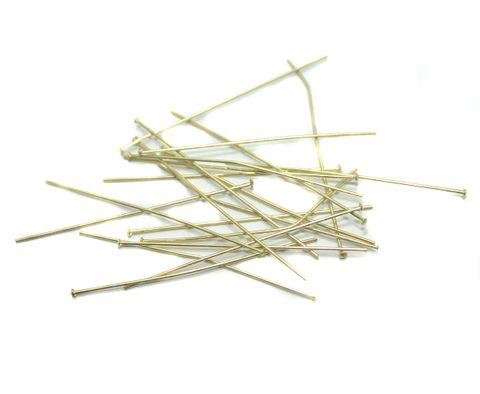 500 Pcs. Metal Golden Head Pins 2 Inch