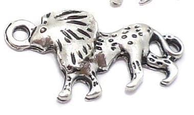 20 Pcs. German Silver Lion Charms 25x13mm