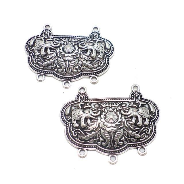 2 Pcs. German Silver Neck Collar 49x35 mm