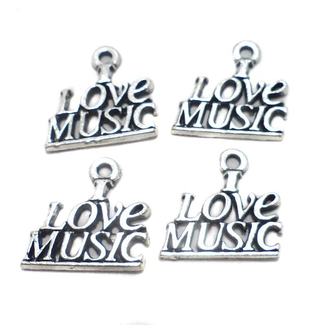 20 Pcs. German Silver Pendant Charms 17x18 mm