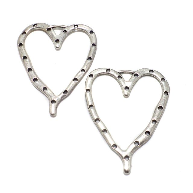 2 Pcs. German Silver Pendants 67x54 mm