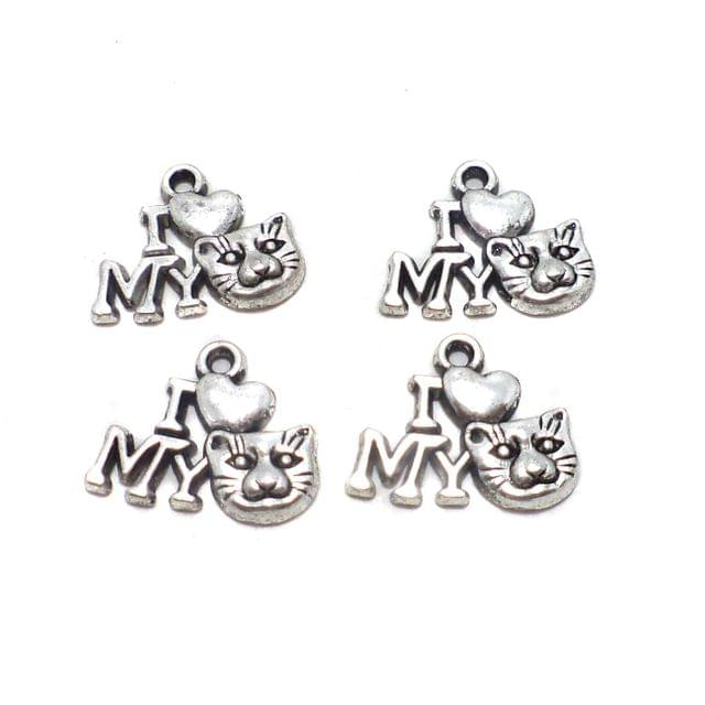 25 Pcs. German Silver Pendants Charms 17x14 mm