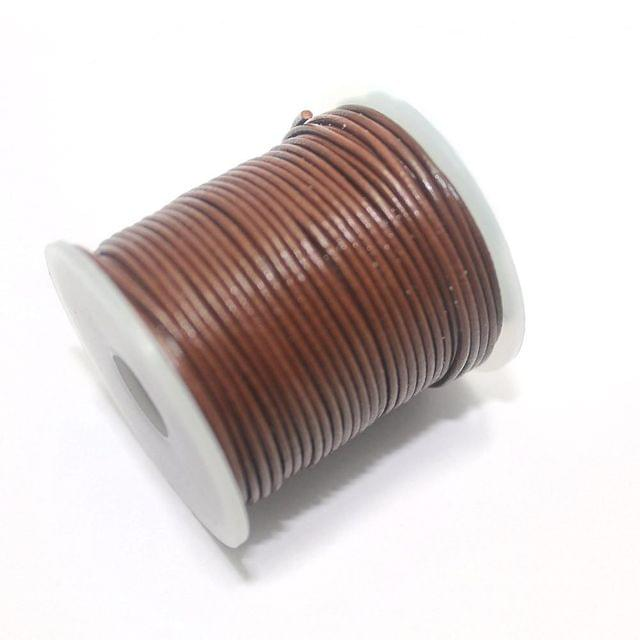 Jewellery Making Leather Cord 1mm Brown-25 Mtr