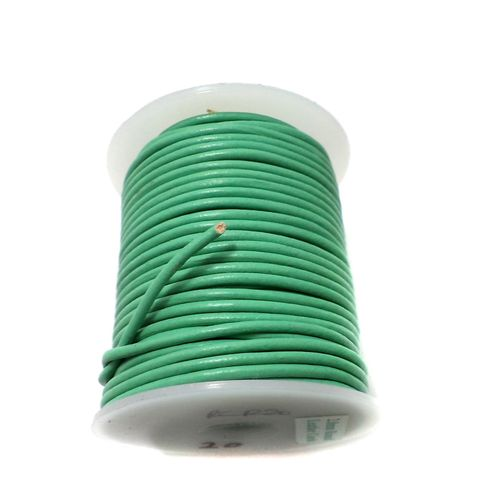 Leather Cord Green For Jewellery Making, Size 2 mm, Pack of 25 mtr