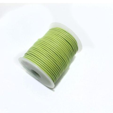 Jewellery Making Leather Cord 2mm Parrot Green-25 Mtr