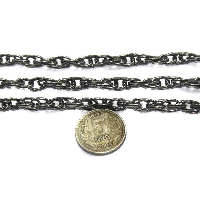 Metal Chain Black Finish 1 Mtr