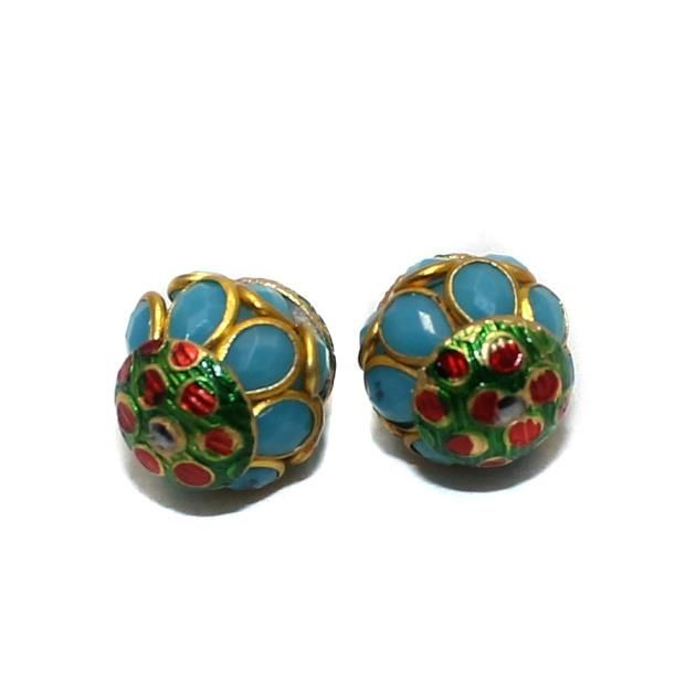 2 Pacchi RONDELLE Beads Turquoise 13x15mm