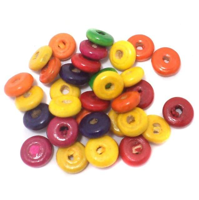 285+ Wooden Donut Beads Assorted 10x4mm