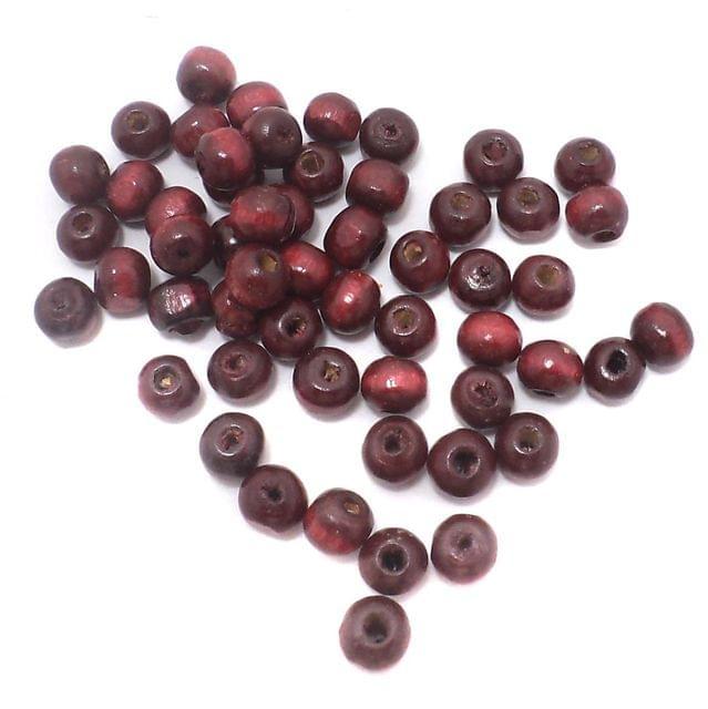 480+ Wooden Round Beads Dark Brown 7mm
