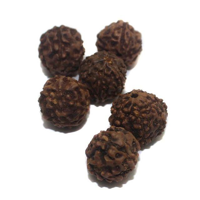 100 Wooden Rudraksha Beads 14mm