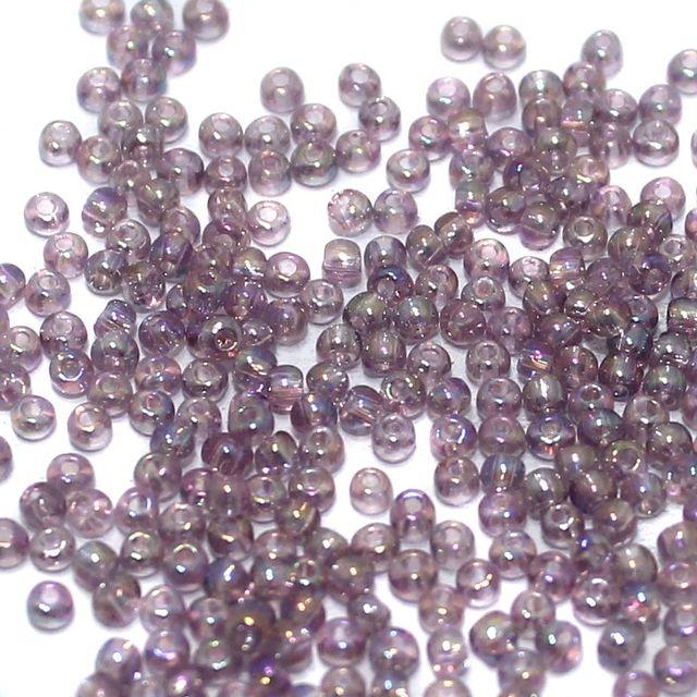100 Gm. Nippon Seed Beads Purple Trans Rainbow, Size 11/0