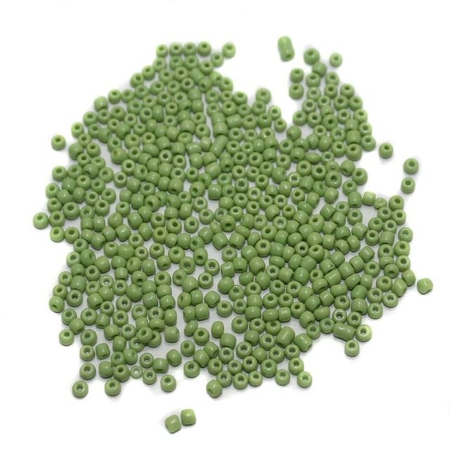 Seed Beads Peridot Opaque (100 Gm), Size 11/0