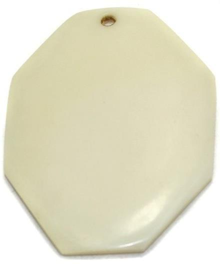 10 Resin Cream Pendants 52x40 mm