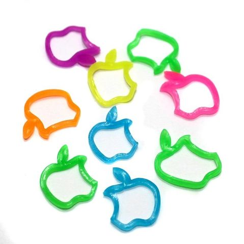 400 Craft Rubber Apple Shape Assorted Color 16x12 mm