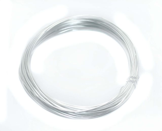 Aluminium Craft Wire Silver 10 Mtrs, Size 1 mm