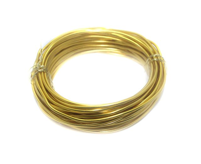 Aluminium Craft Wire Gold 10 Mtrs, Size 2.50 mm