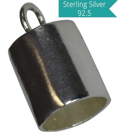 Sterling Silver 8mm Inner Diameter End Tubes