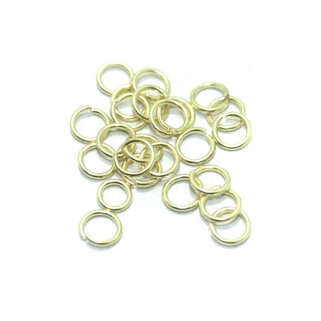 100 Gm. Brass Golden Jump Rings 6 mm