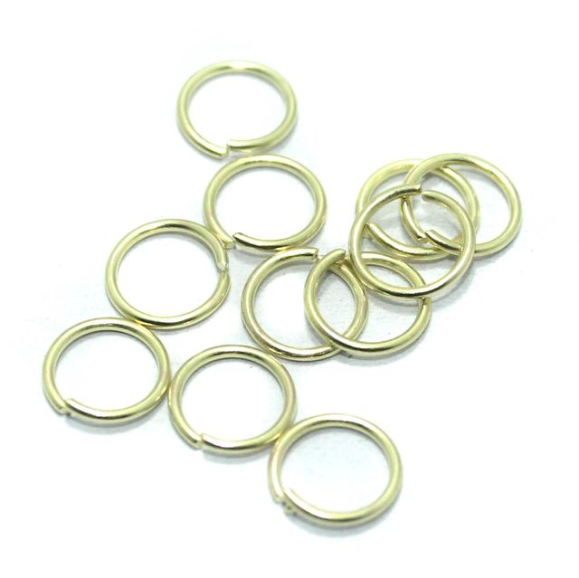 100 Gm Brass Golden Jump Rings 8 mm