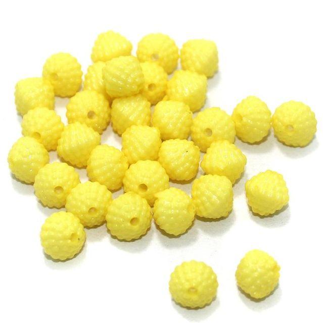 100 Gm Acrylic Rondelle Beads Yellow 8 mm