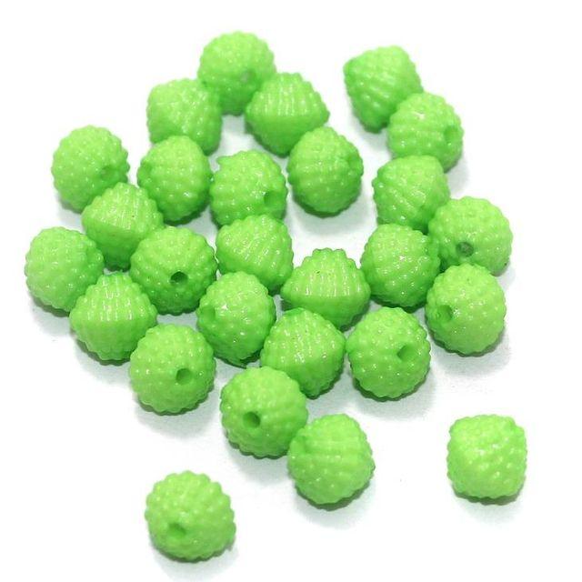 100 Gm Acrylic Rondelle Beads Green 8 mm
