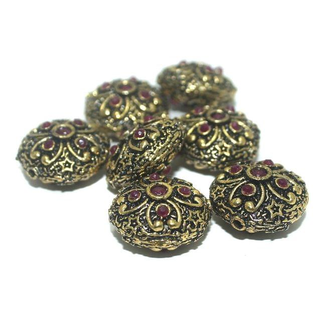 10 Pcs. German Silver Beads 19x12 mm