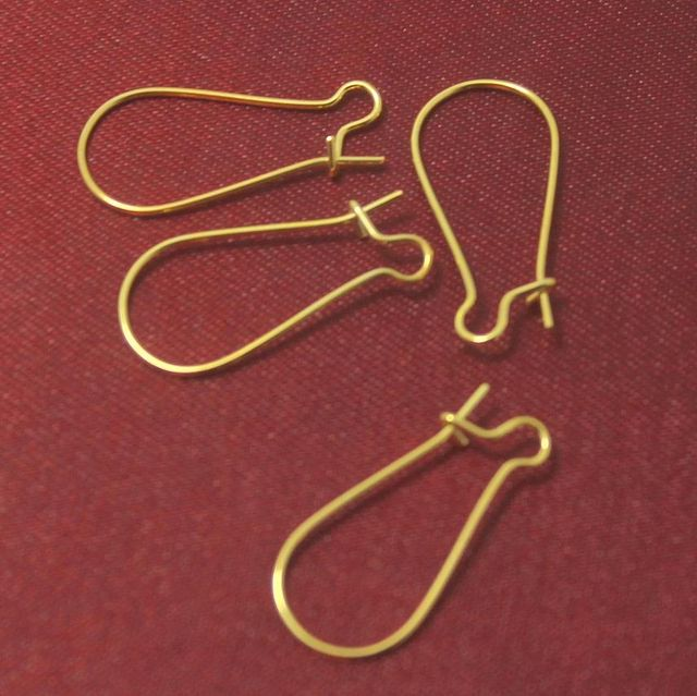 100 Pcs. German Silver Ear Wire Golden 23x11 mm