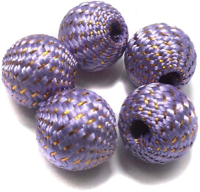 10 Crochet Round Beads Light Purple 22 mm