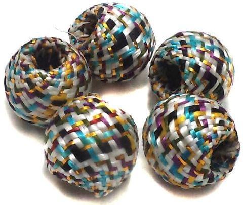 10 Crochet Round Beads Assorted 17