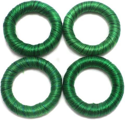 20 Crochet Rings Green 30 mm