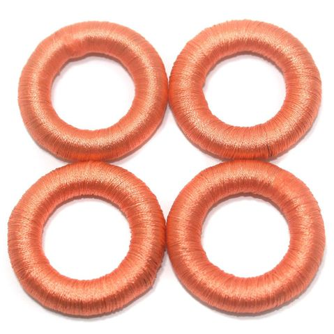 25 Pcs. Crochet Ring Coral 36 mm