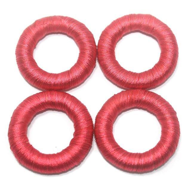 25 Pcs. Crochet Ring Tomato Color 36 mm