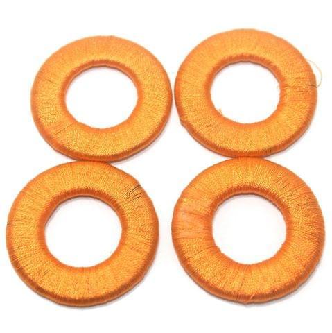 25 Pcs. Crochet Ring Orange 40 mm