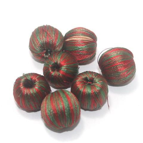 25 Pcs Crochet Round Beads Multi Color 20 mm