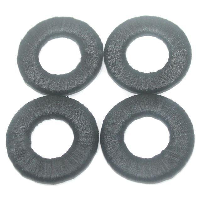 25 Pcs. Crochet Ring Black 40 mm
